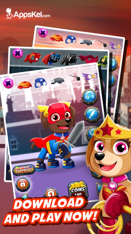 Super-Hero Pups Patrol– Dress Up Games for Free HD screenshot-3