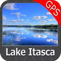 Lake Itasca Minnesota GPS fishing map offline