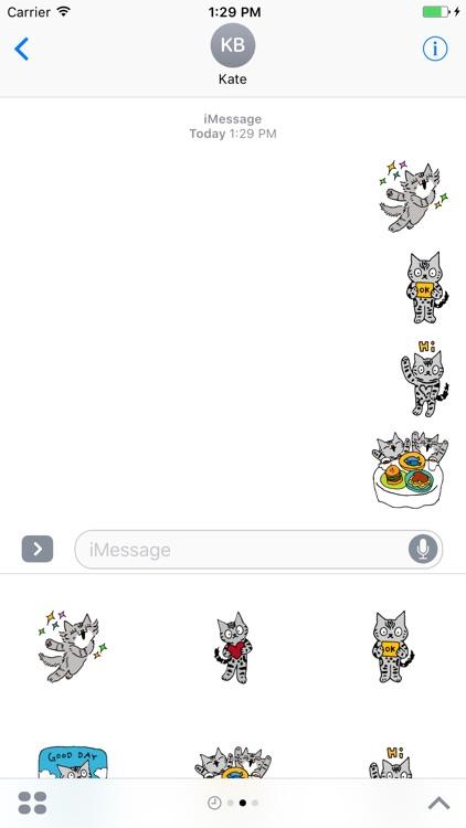 Shiloh Cat emoticon stickers screenshot-3