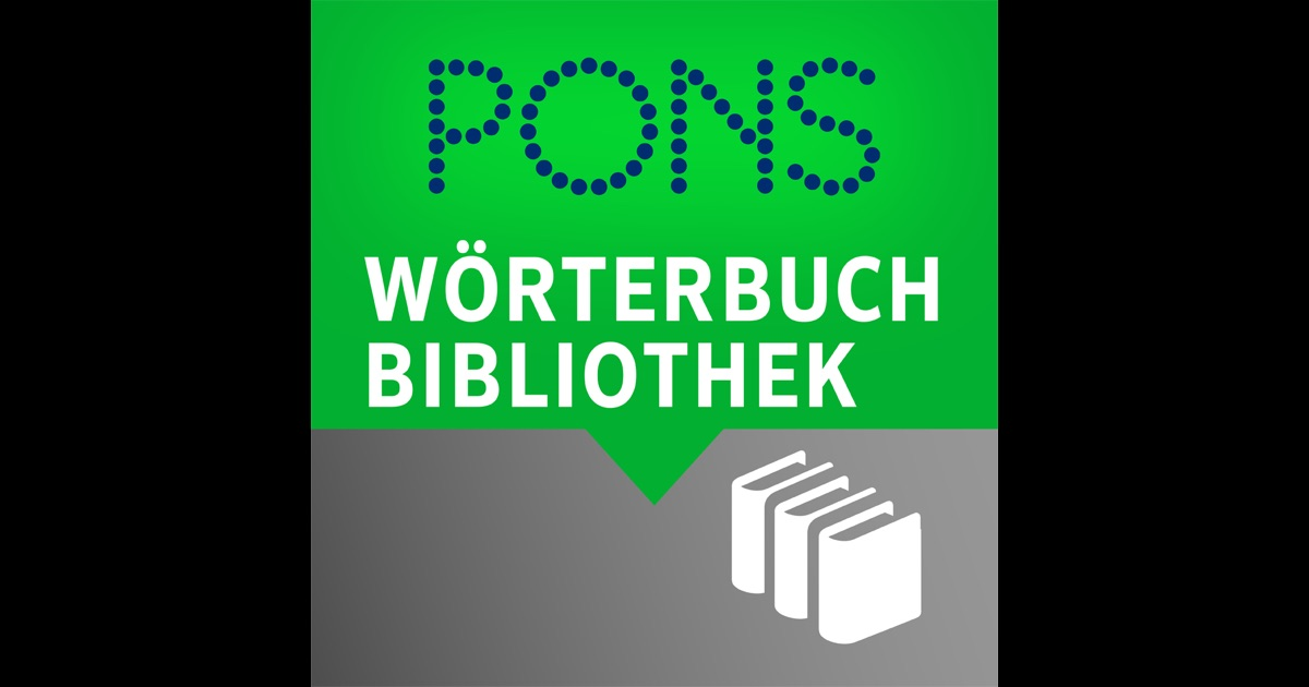 pons w rterbuch bibliothek offline bersetzer im app store. Black Bedroom Furniture Sets. Home Design Ideas