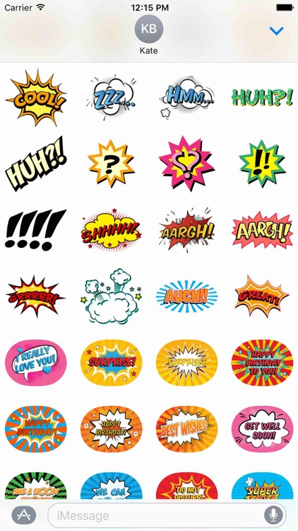 Comic Stickers Pack!