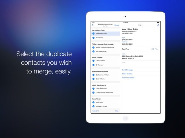 CleanUp Contacts Suite Screenshot