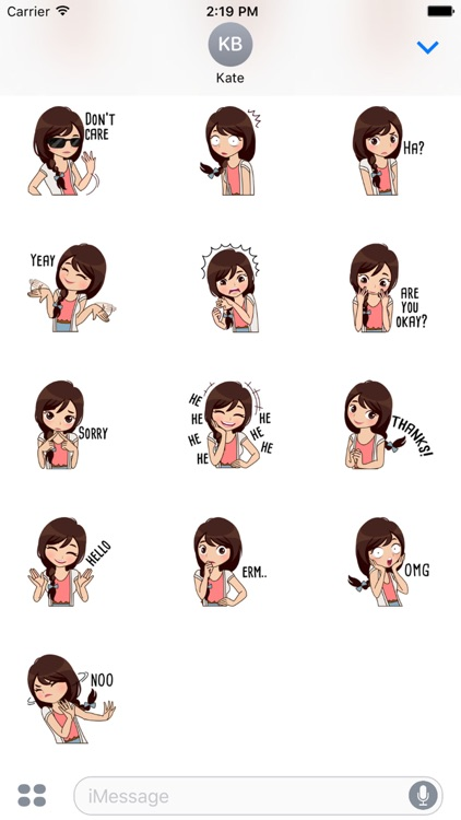Alice Vol.3 Stickers for iMessage by AMSTICKERS