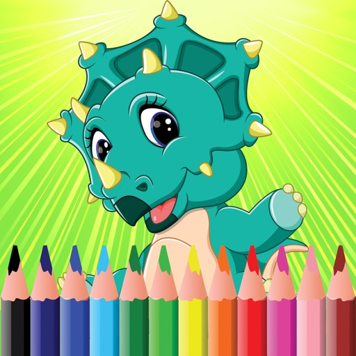 Dinosaur Coloring Book for Kids & Adults Games Hd iOS App