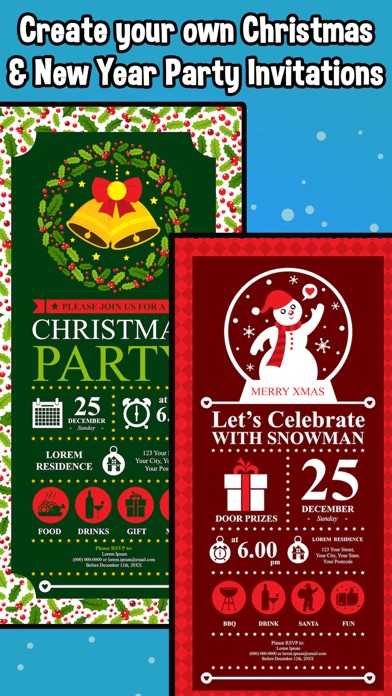 christmas party invitations app price drops