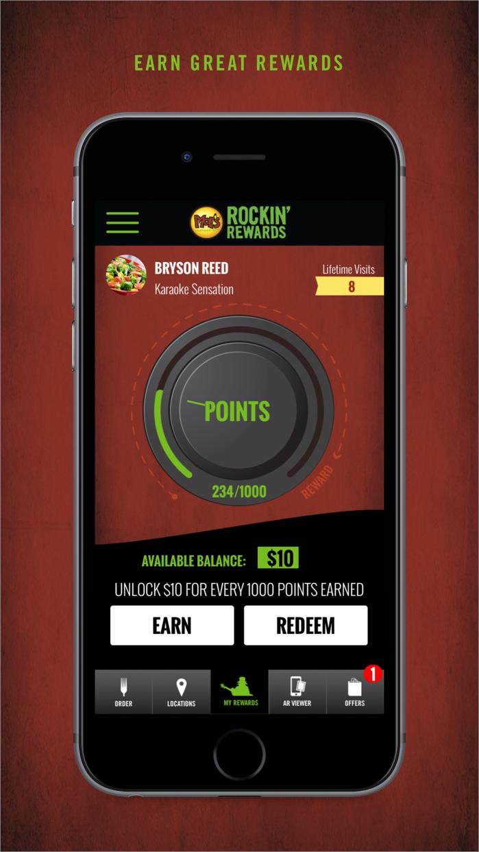 Moe's Rockin' Rewards Screenshot