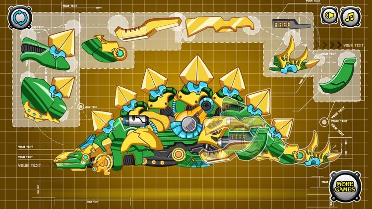 Steel Dino Toy: Mechanic Stegosaurus-2 player game screenshot-3