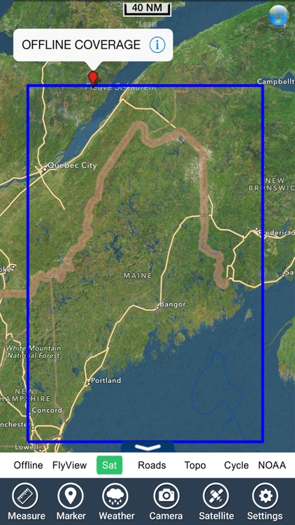 Maine lakes charts HD - GPS fishing maps Navigator screenshot-4