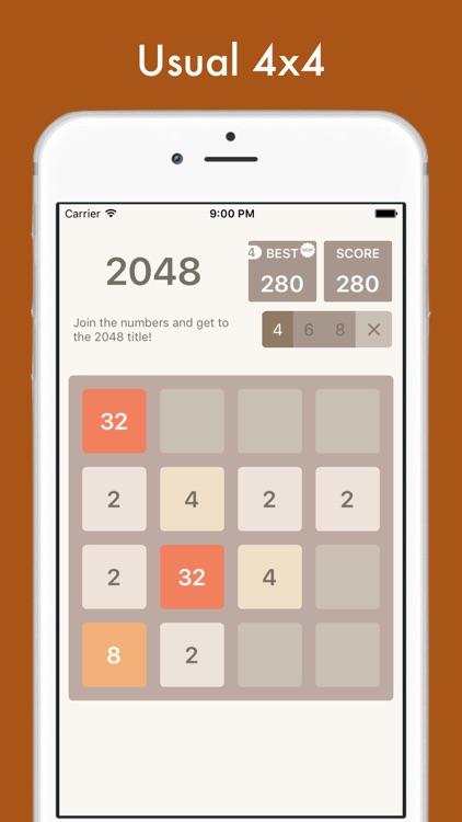 2048 Multi - 8x8, 6x6, 4x4 tiles in one app!