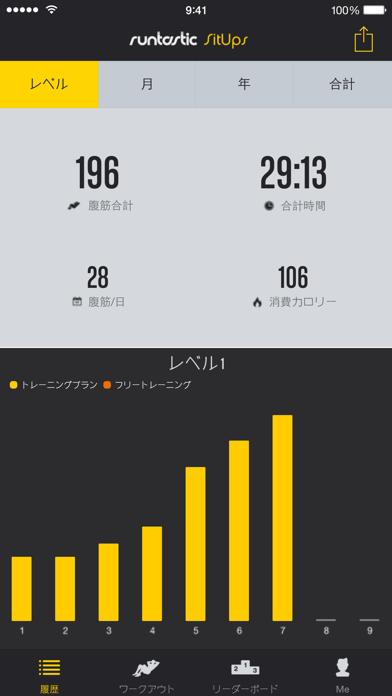 Runtastic 腹筋回数カウントPRO screenshot1