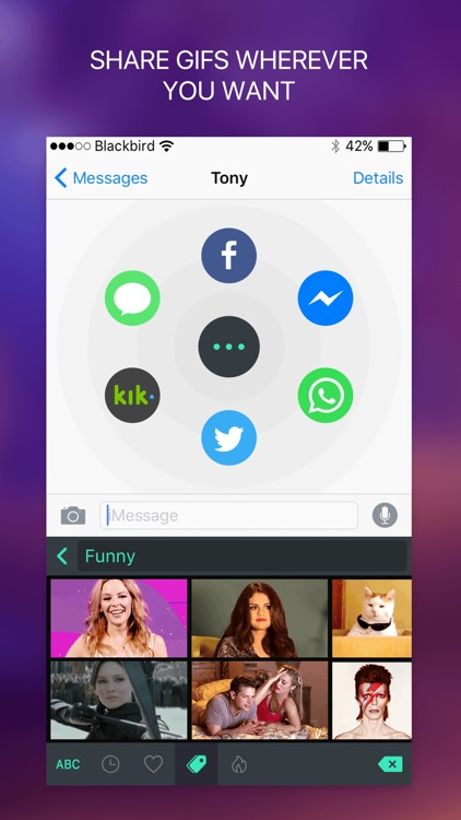 GifT Keyboard - Specialized GIF Keyboard for Kik and Messenger screenshot-3