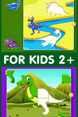 Dinosaur Games: Puzzle for Kids & Toddlers screenshot 2