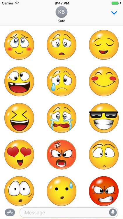 Yellow Smileys Emoticons