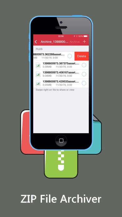 ZIP ZIPの解凍ダウンロードしArchiverおよびツールのスクリーンショット3