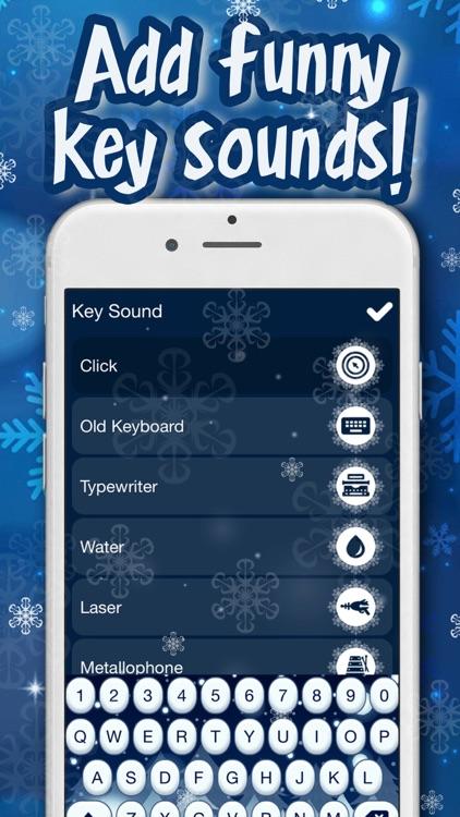 Winter Keyboard Theme – Frozen Skins, Emoji & Font screenshot-4