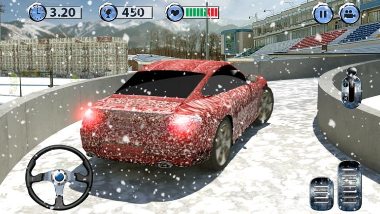 Multi-Level Snow Car Parking Mania 3D Simulator