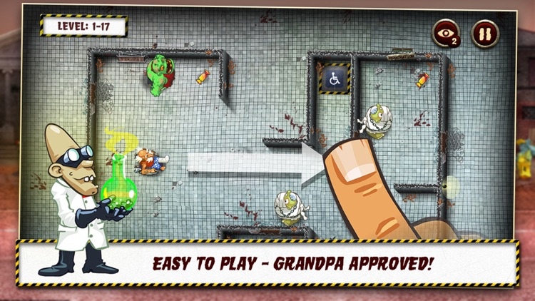 Grandpa and the Zombies - Take care of your brain! screenshot-1