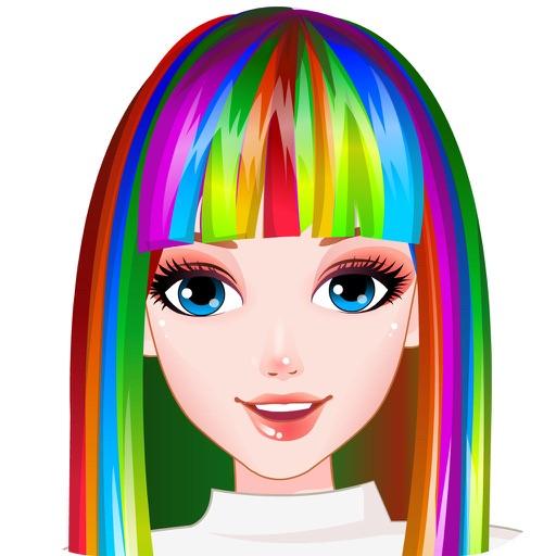 完璧な虹のヘアスタイル