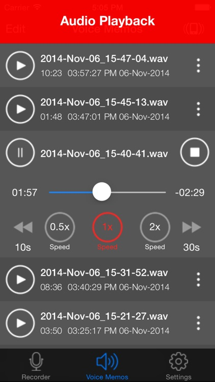 Voice Recorder - HD Audio Recording & Playback screenshot-1
