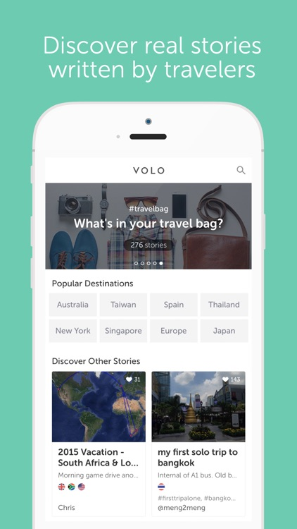 VOLO - The Travel Journal