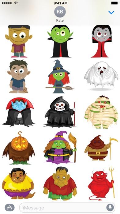 Halloween-cartoon-aufkleberScreenshot von 1