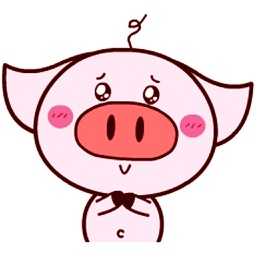 Pink Piggy - Animated Stickers And Emoticons
