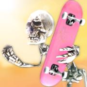 骷髅滑板 - 滑板古怪游戏!