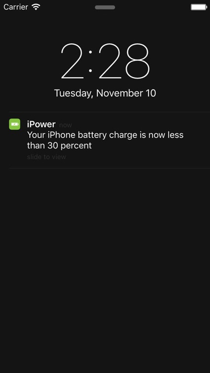 iPower - Glance Battery Usage On Watch