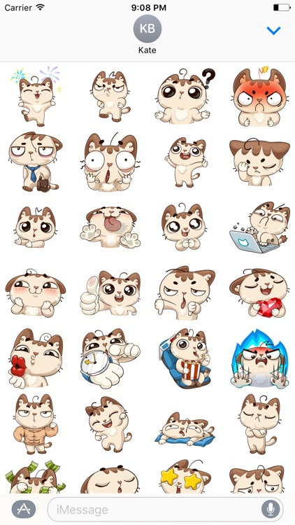 Oscar the cute kitten iMessage stickers