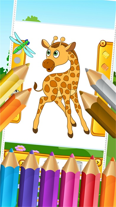 My Zoo Animal Friends Draw Coloring Book World For Kids