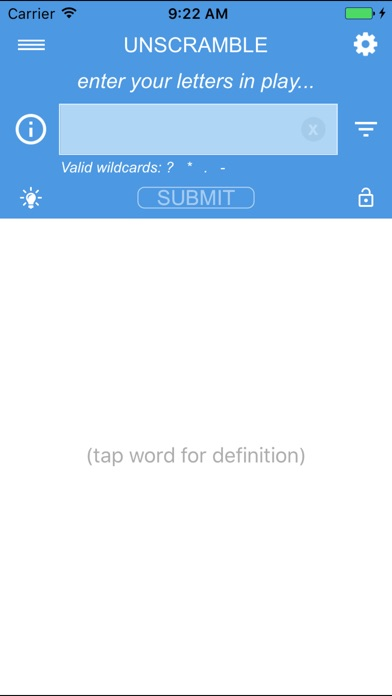 unscramble letters by software to fit (ios, united kingdom