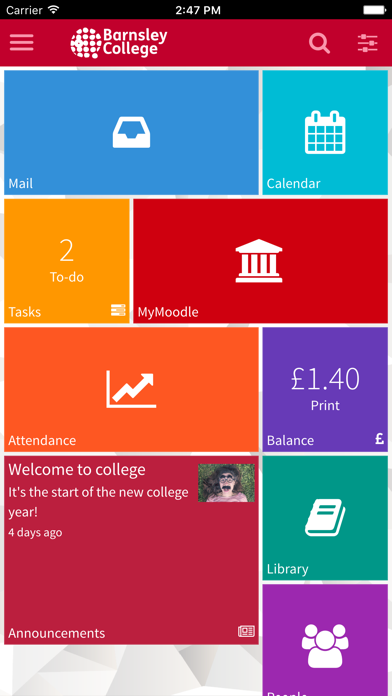 Barnsley College MyDay screenshot one