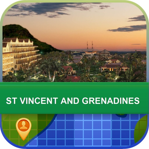 St Vincent and Grenadines Map - World Offline Maps icon