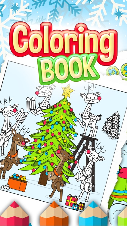 Christmas Colorfly – Free Color.ing Book for Kids