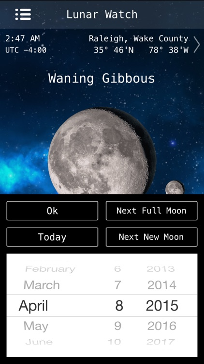 Lunar Watch Full moon calendar