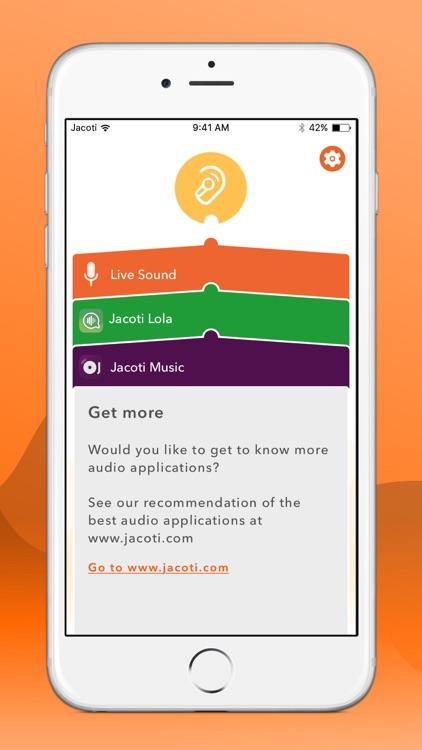 Jacoti ListenApp - Hearing aid
