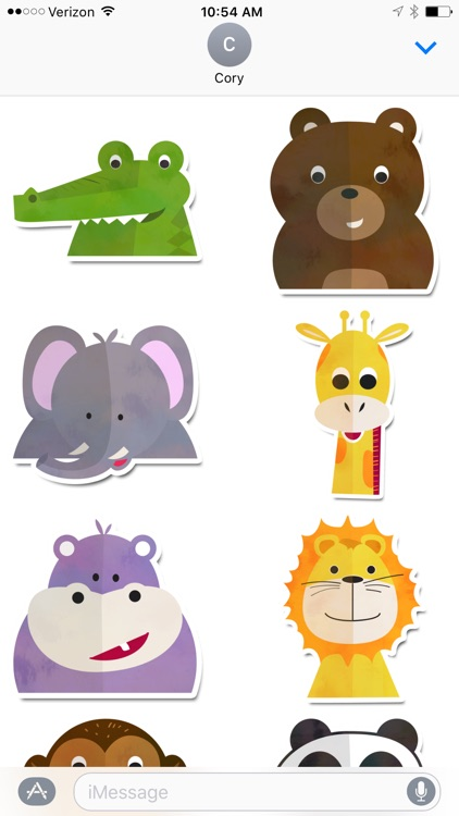 Zoo Animals Sticker Pack
