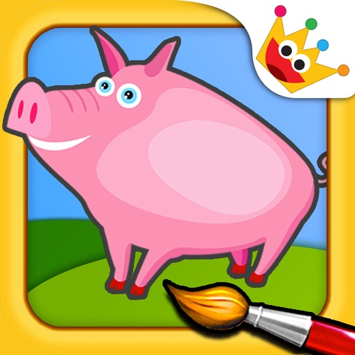 The Farm - Paint & Animal Sounds Games for Toddler