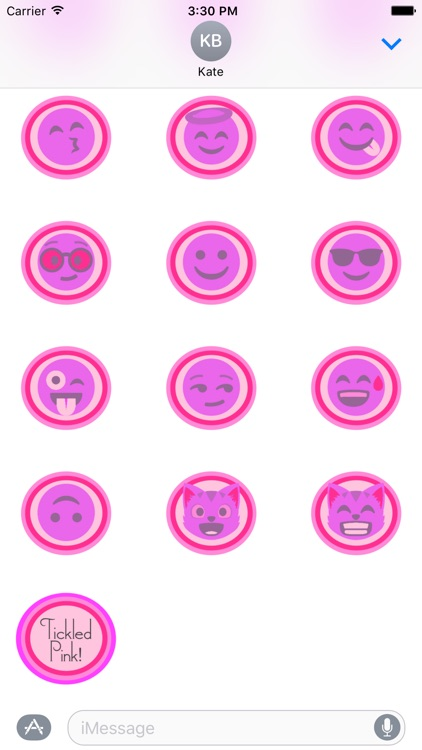 Tickled Pink! (Pinktastic Emoji Stickers) screenshot-2
