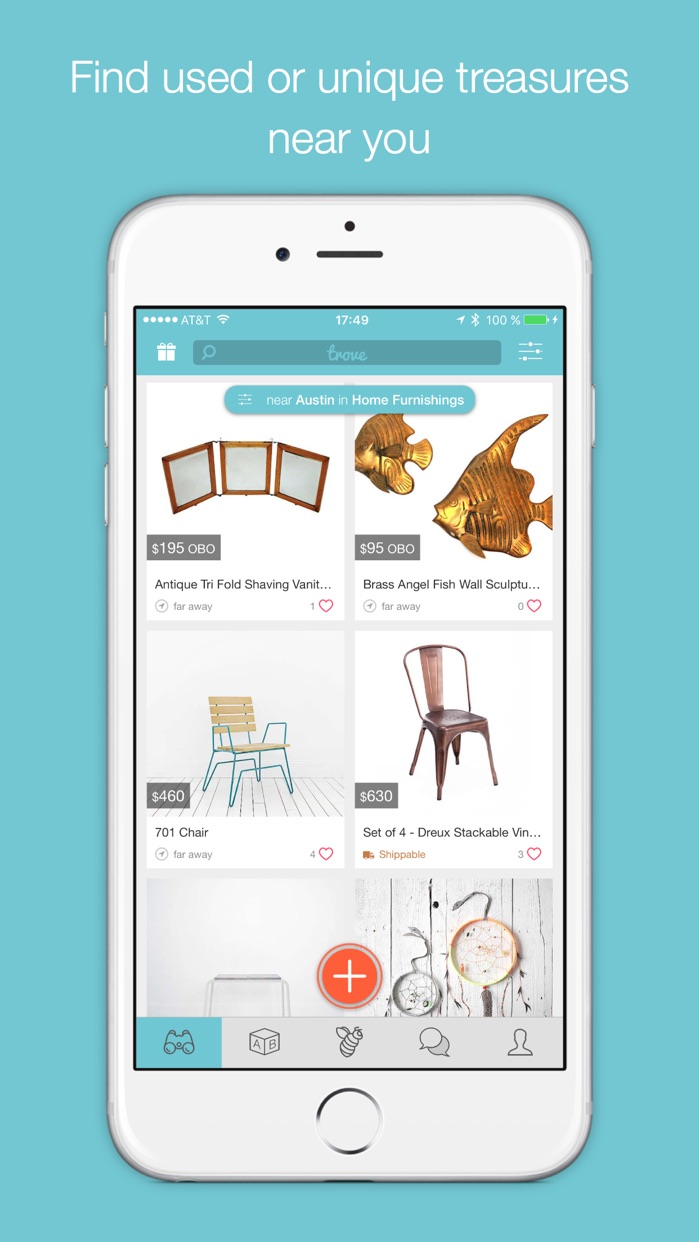Trove Marketplace: Buy & Sell Local Used Furniture & Home Decor, and Resell Second Hand Stuff in Your Community. Screenshot