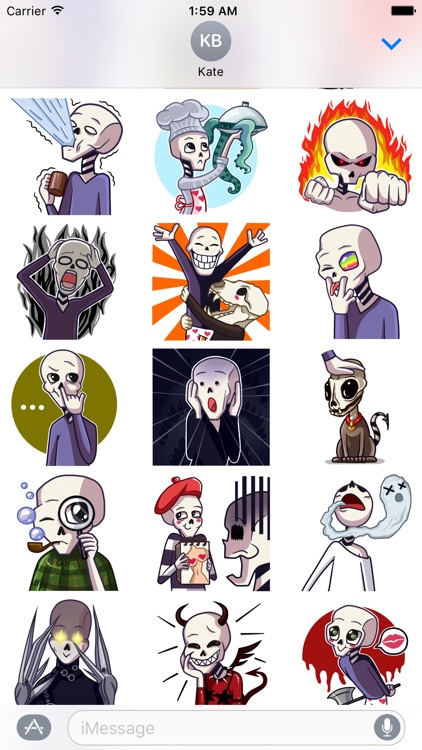 Grim in Love - Stickers for iMessage