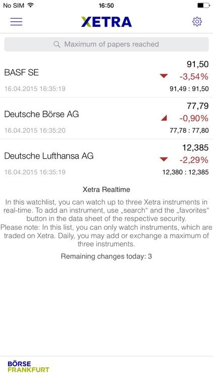 Börse Frankfurt-App