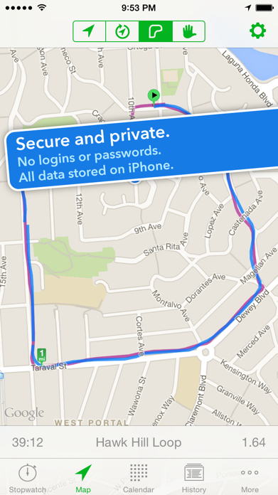 Walkmeter Walking & Hiking GPS Screenshot