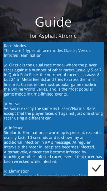 Guide for Asphalt Xtreme screenshot-3