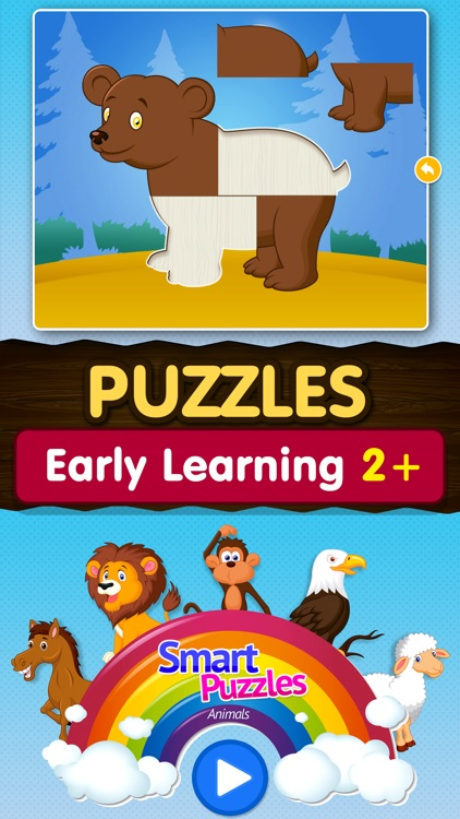 Kids Animal games-SmartPuzzles