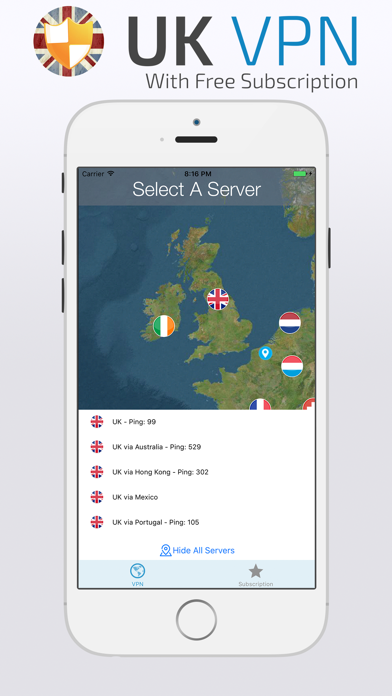 UK VPN with FREE Subscription screenshot one