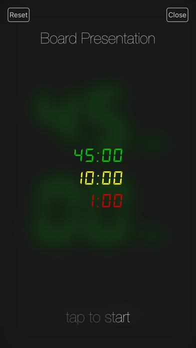 Presentation Clock review screenshots