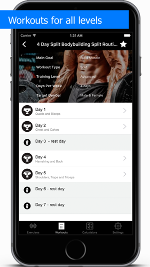 ‎Gym Guide Pro workouts and exercises for fitness