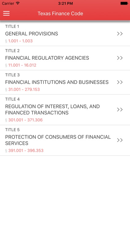 Texas Finance Code 2017 screenshot-0