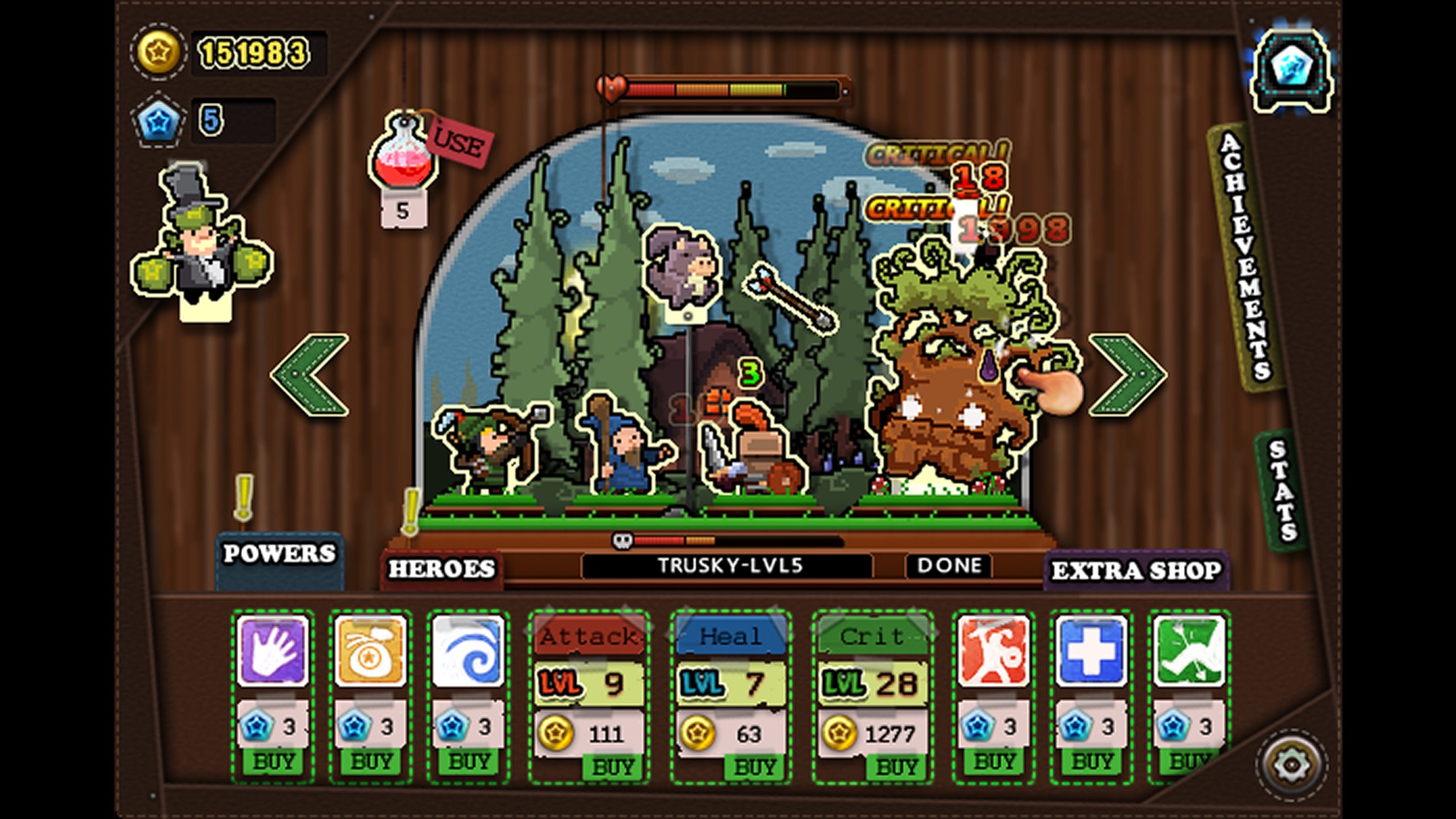 Tap Heroes - Idle Clicker Screenshot
